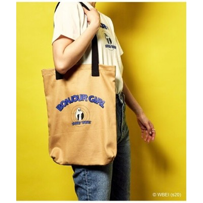 【SALE/40%OFF】bonjour records 【Bonjour Girl】LOONEY TUNES / TOTE BAG ボンジュールレコード バッグ トートバッグ ブラウン ブルー