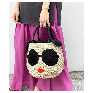 Droite lautreamont(Women)/ドロワットロートレアモン 【WEB・SC別注】≪a-jolie≫サングラスBAG SI-1702 シロ【三越伊勢丹/公式】 バッグ~~かごバッグ