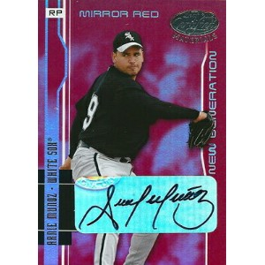 アーニー・ムニョス MLBカード Arnie Munoz 2003 Leaf Certified Materials New Generation Autographs Mirror Red 021...