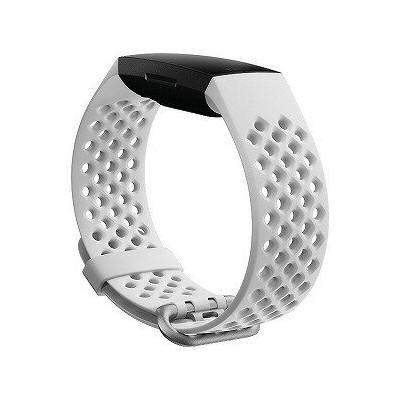 Fitbit フィットビット Charge4交換用スポーツバンド Frost White Sサイズ Frost White FB168SBWTS