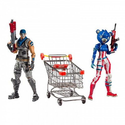 MCFARLANE TOYS MCFARLANE FORTNITE Shopping Cart Pack #1 with Warpaint and Fireworks Team Leader...