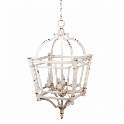 A&B Home Classic Vintage Bird Cage Chandelier Weathered White おしゃれ シャンデリア【送料無料】【代引不可】【あす楽不可】