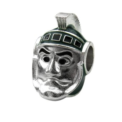 MSU 3-D Sparty Bead チャーム - its Pandora & Others (海外取寄せ品)