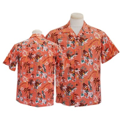 "2020 SUN SURF サンサーフ COTTON SEERSUCKER PONE SHIRT ""THE FRONTIERR ISLAND""by Masked Marvel(PINK)"
