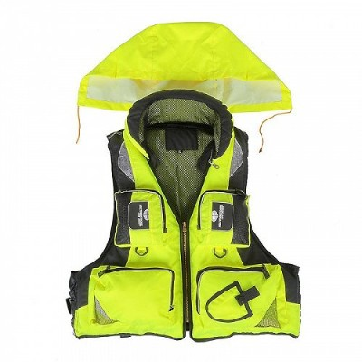 Lixada Professional Fishing Polyester シニア用 Safety Survival Vest Swimming Boating Drifting XL 釣り ベスト...