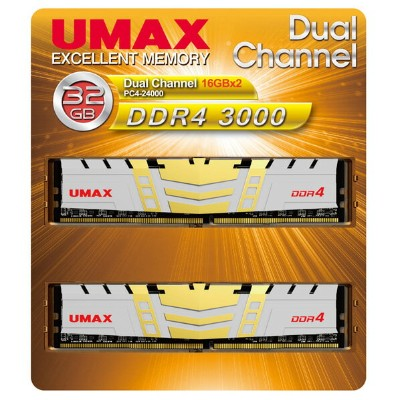 UMAX デスクトップ用メモリー(16GB×2) DUAL CHANEL 16GB X2 32GB DDR4 3000 PC4-24000 288PIN DIMM UM-DDR4D-3000...