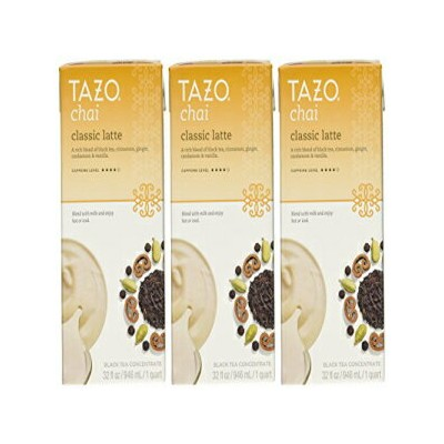 Tazo Chai Natural Spiced Black Tea Latte Concentrate 32-ounce Boxes(Pack of 3) Tazo Chai Natural...