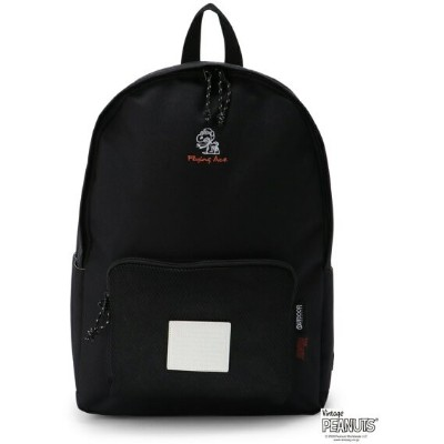 OUTDOOR PRODUCTS (W)OUTDOOR PRODUCTS×SNOOPY フライングエース柄デイバッグ アウトドアプロダクツ バッグ リュック/バックパック ブラック【送料無料】