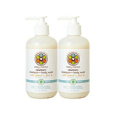 Baby Mantra 2-in-1 Shampoo and Body Wash - EWG Verified Bath Soap for Infants, Toddlers, and Kids...