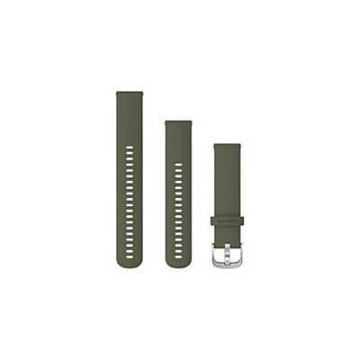 GARMIN(ガーミン) Quick Release バンド 20mm Moss Silicone / Silver 010-12924-51 0101292451