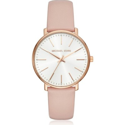 マイケル コース Michael Kors レディース 腕時計 【Rose Gold-Tone and Blush Leather Pyper Watch】Rose gold