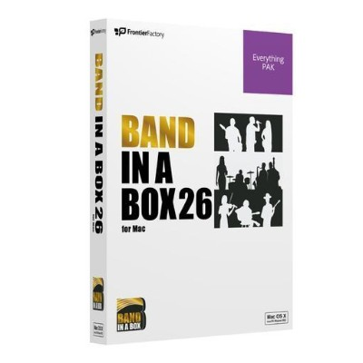 フロンティアファクトリー Band-in-a-Box 26 Mac EverythingPAK PGBBQEM111
