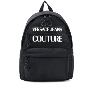 Versace Jeans Couture ロゴ バックパック - ブラック