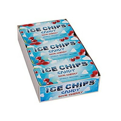 ICE CHIPSキシリトールキャンディティン(サワーチェリー、6パック)-図のようにバンドが含まれています ICE CHIPS Xylitol Candy Tins (Sour Cherry, 6...