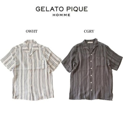 SALE30%OFF GELATO PIQUE HOMME ジェラートピケオム パジャマ 通販 HOMME 刺し子半袖シャツ pmft204925 ジェラピケ メンズ 半袖 トップス パジャマ 部屋着