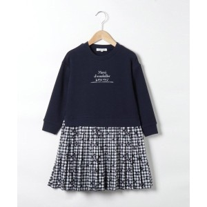 【3can4on(Kids)(サンカンシオン(キッズ))】 【100-140cm】ギンガムチェックプリントプリーツドッキングワンピース OUTLET > 3can4on(Kids) > ワンピース ...