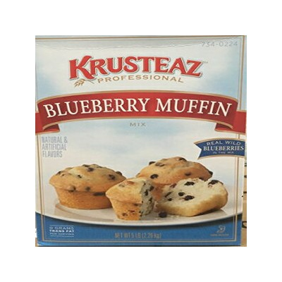 5 Pounds Krusteaz Real Wild Blueberry Muffin Mix,