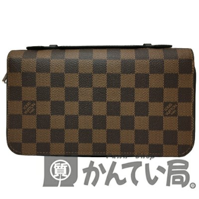 LOUIS VUITTON(ルイヴィトン)N63284 ジッピーXL ダミエ エベヌ ラウンドファスナー 長財布【USED-A】