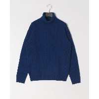 ABAHOUSE LANEROSSI RIBxCROSSKNIT NECK○00370040001 ブルー トップス