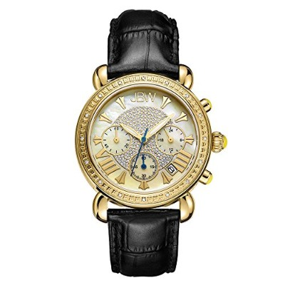 腕時計 高級レディース JB-6210L-A 【送料無料】JBW Luxury Women's Victory 0.16 Carat Diamond Wrist Watch with Leather...