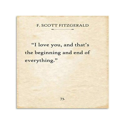 F. Scott Fitzgerald - I Love You and That's the