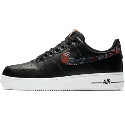 "NIKE ナイキ AIR FORCE 1 '07 'FLORAL' エア フォース ワン ""フローラル"" メンズ スニーカー BLACK/WHITE-GAME ROYAL-MULTI-COLOR..."