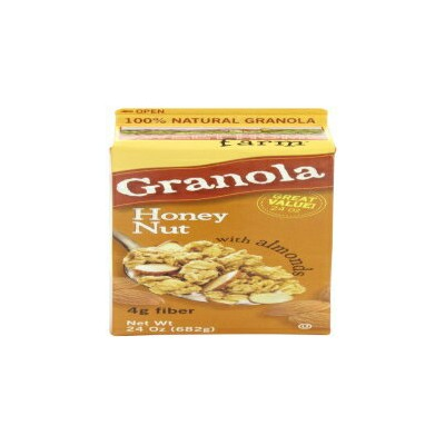 Sweet Home Farm Honey Nut Granola with Almonds, 24-Ounce Cartons (Pack of 4)