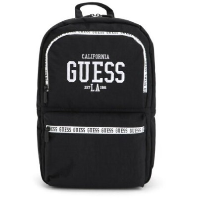 GUESS (U)CAMPUS Nylon Backpack ゲス バッグ リュック/バックパック ブラック レッド【送料無料】