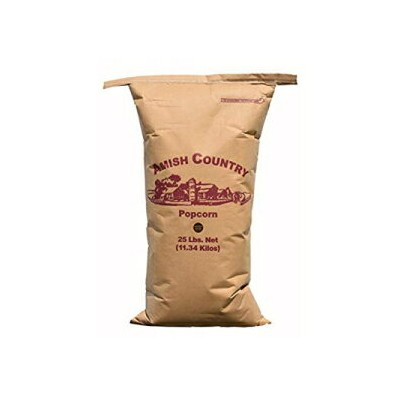 Amish Country Popcorn   25 lb Bag   Medium Yellow Popcorn Kernels   Old Fashioned with Recipe Guide...