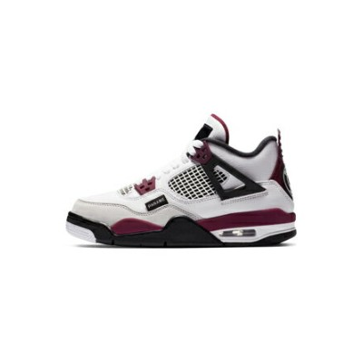 "バスケットシューズ バッシュ スニーカー ジョーダン Jordan Air Jordan 4 Retro GS ""PSG"" GS Wht/Neutral Grey/Blk/Bordeaux..."