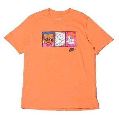 atmos pink NIKE AS M NSW TEE FTWR1ILLUSTRATION アトモスピンク カットソー Tシャツ オレンジ
