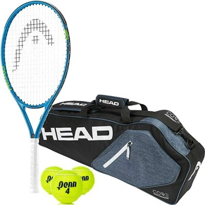 """HEAD スピード 23"""" ジュニア テニス Racquet スターター キット バンドル with a Core 3R (3-Pack) Racket Bag and a Can of テニス..."""