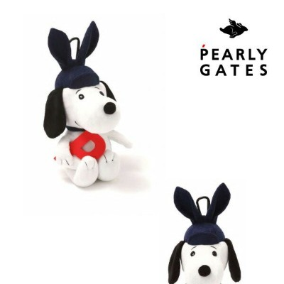 【NEW】【SNOOPY×PEARLYGATES】スヌーピー by パーリーゲイツ耳付きCAP! SNOOPYぬいぐるみ ボール&小物ポーチ 053-0284038/20D【SNOOPY】