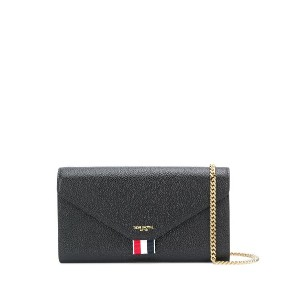 Thom Browne PEBBLED LEATHER ENVELOPE LONG WALLET - ブラック