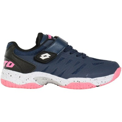 LOTTO (ロット) LOTTOジュニアテニスシューズ オールコート ジュニアテニスシューズ ジュニア NAVY/PINK LO-Y20-004-031