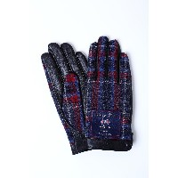 iTouch Gloves ITG LEATHER○iTGLM001 ブルーチェック/ムーン ファッション雑貨