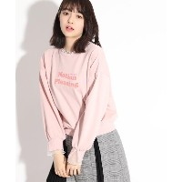 【PINK-latte(ピンク ラテ)】 ★ニコラ掲載★シアーチュールドッキングトップス OUTLET > PINK-latte > トップス > スウェット・トレーナー ベビーピンク