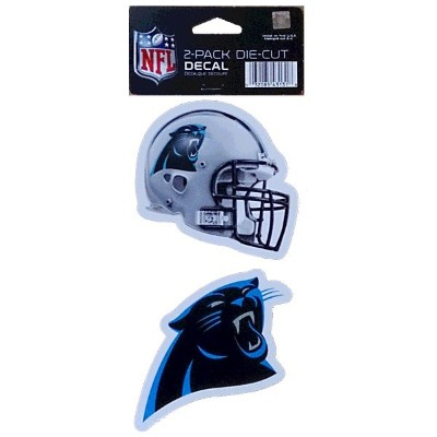 NFL ダイカットステッカー2種セット パンサーズ(A) Carolina Panthers Set of 2 Die Cut Decals (A)