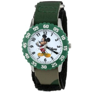 ディズニー 腕時計 キッズ 時計 子供用 ミッキー Disney Kids' W000004 Mickey Mouse Stainless Steel Time Teacher Watch