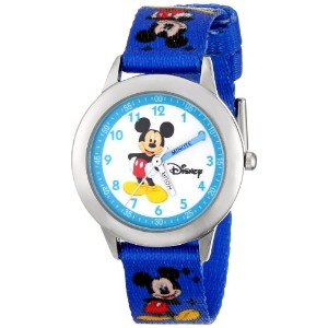 ディズニー 腕時計 キッズ 時計 子供用 ミッキー Disney Kids' W000014 Mickey Mouse Stainless Steel Time Teacher Watch