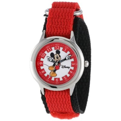 ディズニー 腕時計 キッズ 時計 子供用 ミッキー Disney Kids' W000247 Mickey Mouse Stainless Steel Time Teacher Watch with...