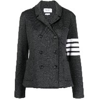 Thom Browne DOUBLE FACE CLASSIC DOUBLE BREASTED SPORTCOAT W/ 4 BAR IN