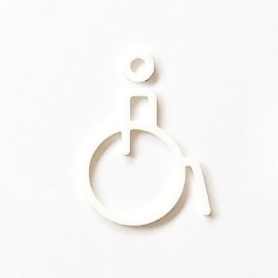 MOHEIM ACCESSIBLE (white) ホワイト アクセシブル/車椅子 ピクトグラムサイン RESTROOM SIGN 新築 新築祝い 店舗 オフィス 備品 公共スペース 宿泊施設