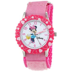 ディズニー 腕時計 キッズ 時計 子供用 ミニー Disney Kids' W000027 Minnie Mouse Stainless Steel Time Teacher Watch