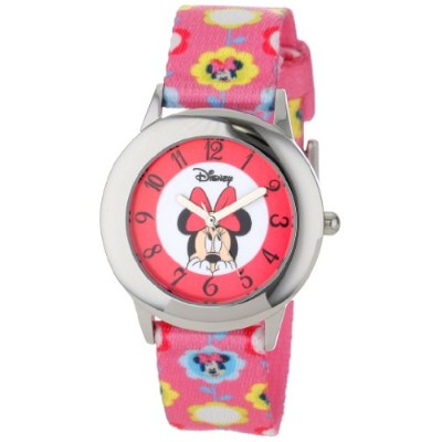 ディズニー 腕時計 キッズ 時計 子供用 ミニー Disney Kids' W000854 Tween Minnie Mouse Stainless Steel Printed Strap Watch