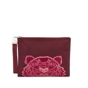 Kenzo A4 ロゴ クラッチバッグ - レッド