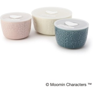 【one'sterrace(ワンズテラス)】 MOOMIN レンジ3点セット キャベリー ランチボックス・容器 > 保存容器・その他容器 ピンク