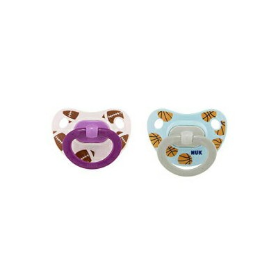 NUK Sports Orthodontic Pacifiers, Girl, 6-18 Months, 2-Pack