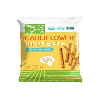 REAL FOOD FROM THE GROUND UP From the Ground Up Cauliflower Pretzels - 6 Pack (Sticks)