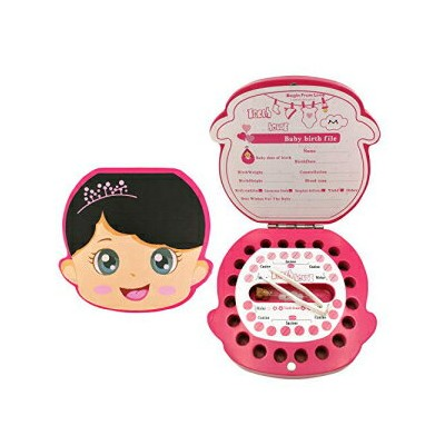PAMBO Baby Tooth Fairy Keepsake Box | Tooth Boxes for Lost Teeth - Girl